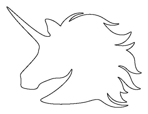 printable unicorn head template