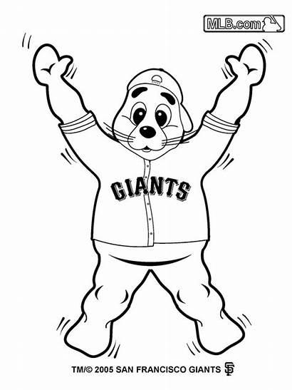 Giants Sf Coloring Pages Giant Baseball Printable