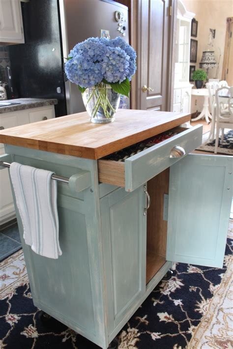 diy kitchen island cart rolling kitchen cart makeover confessions of a serial do
