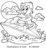 Ski Jet Clipart Coloring Pages Illustration Royalty Visekart Picolour sketch template