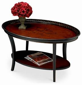 hamlet traditional red and black painted oval cocktail With red oval coffee table