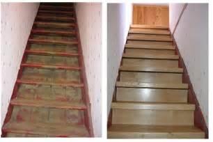 Comment Renover Un Escalier En Granito by Recouvrir Un Escalier De Beton En Parquet Chene Ma