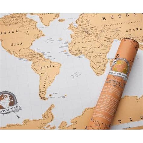 carte monde a gratter carte du monde 224 gratter cadeau maestro