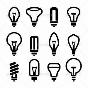 Light Bulbs Bulb Icon Set 2 Vector GraphicRiver