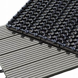 Pose Terrasse Composite Sur Dalle Beton : dalle terrasse composite clipsable gris 30 x 30 cm ~ Carolinahurricanesstore.com Idées de Décoration