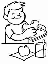 Lunch Coloring Pages Fruit sketch template