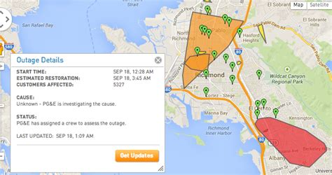 update pge outage  north berkeley el cerrito
