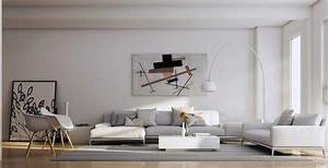 25 tasteful living rooms With modern living room wall decor