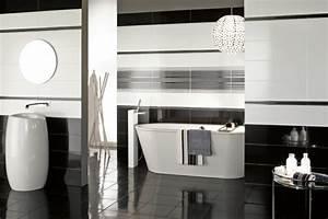 Carrelage Salle De Bain Noir Et Blanc : carrelage salle de bain noir et blanc ~ Dallasstarsshop.com Idées de Décoration