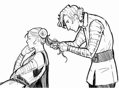 Character Sketches Reylo Pregnant Conflict 300dpi They