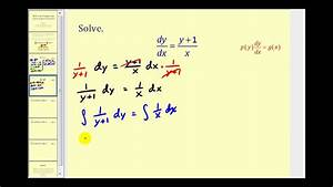 Differential Equations  Separation Of Variables