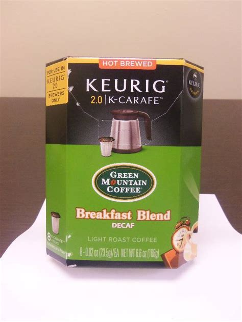 Great option as decaffeinated coffee. Keurig 2.0 K-Carafe Cups Green Mountain Coffee Breakfast Blend Decaf | Keurig Coffee Systems and ...