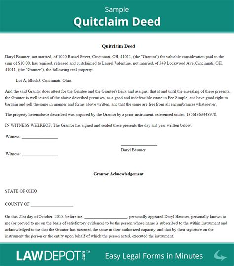 Quitdeed Free Quitdeed Form Us Lawdepot