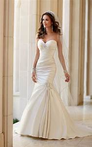 wedding dresses strapless fit and flare wedding dress With fit and flare dress wedding dress