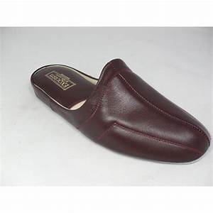 relax slippers relax mens wine 7120 leather slippers With letter slippers
