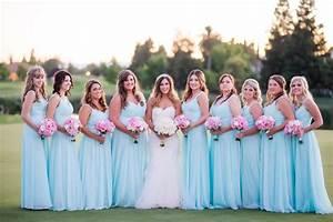 traditional wedding with powder blue bridesmaid dresses With wedding dresses for bridesmaid