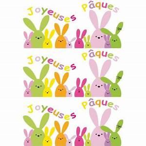 Joyeuses Paques Images : vitrophanie frises de lapins joyeuses p ques 70 x 100 cm ~ Voncanada.com Idées de Décoration