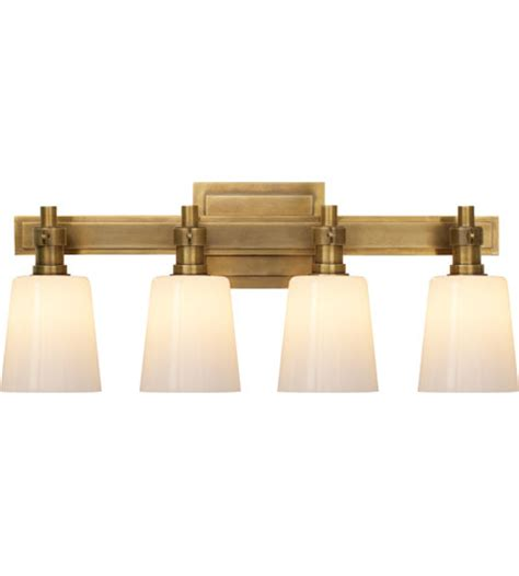 Antique Brass Light Fixtures Bathroom by Visual Comfort Tob2153hab Wg Obrien Bryant 4 Light