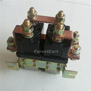 Heavy Duty Solenoid 48v 400a Reversing Contactor For Bad