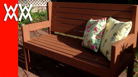 build  simple garden bench easy woodworking project