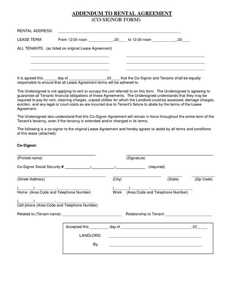 awesome renting lease agreement form images top resume