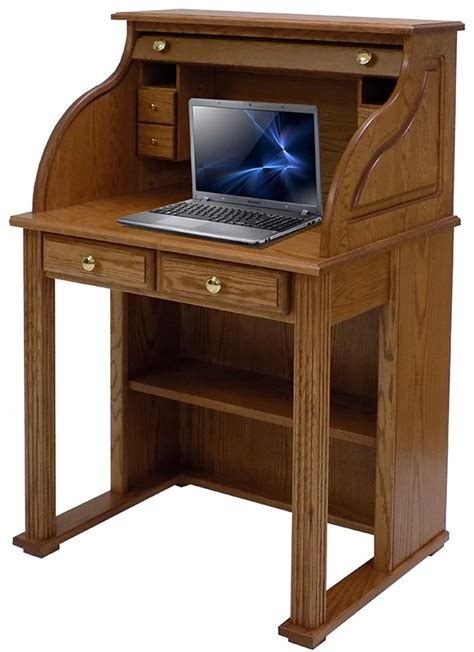 best laptop lap desk 29 quot w solid oak roll top vintage laptop desk