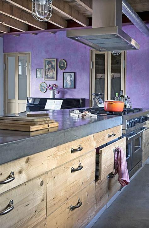 cuisine en violet 1001 idées pour décider quelle couleur pour les murs d