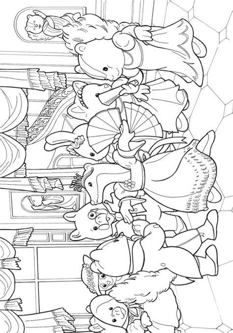 dibujos  colorear sylvanian families imprimible gratis  los ninos  los adultos