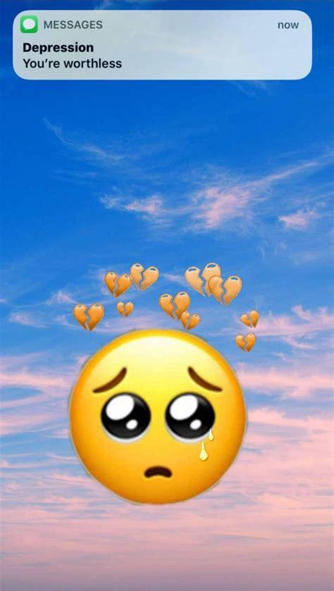 emoji sad iphone wallpapers wallpaper cave