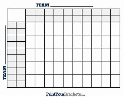Squares Football Printable Lines Square Grid Printyourbrackets