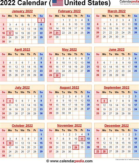 calendar federal holidays excelpdfword templates