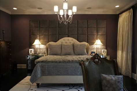 wall  upholstered panels traditional bedroom