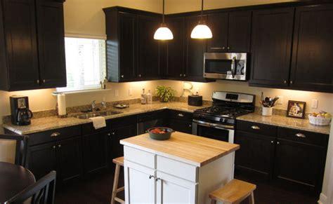 espresso kitchen island rta espresso kitchen cabinets with white island roy home 3596