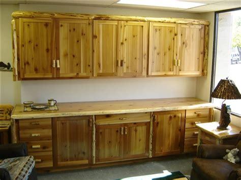 rustic cedar kitchen cabinets rustic cedar log kitchen cabinets the log furniture store