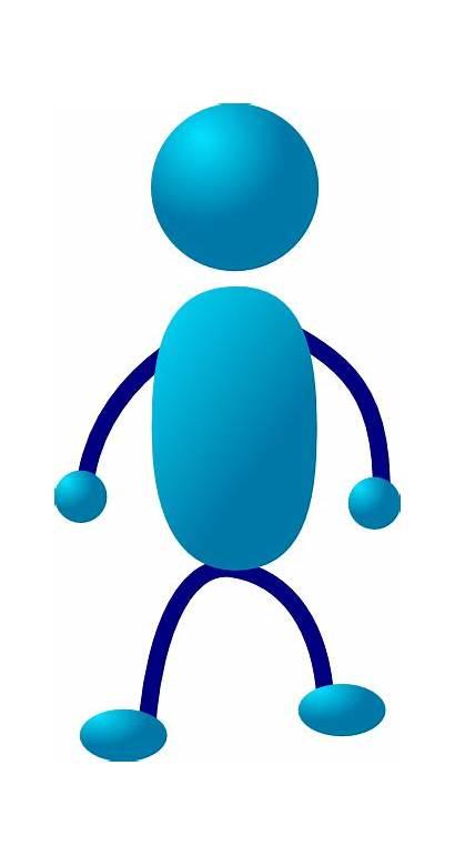 Stick Standing Clipart Clip Stickman Cliparts Person