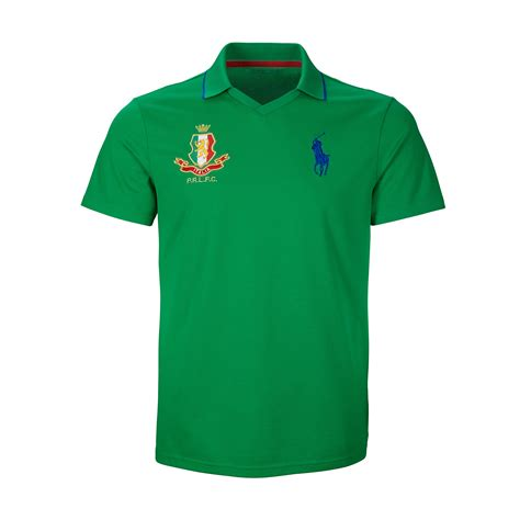 lyst ralph italy polo shirt in green for