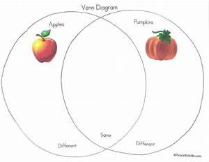 Apple Pumpkin Venn Diagram  October Art Activities  Apple
