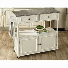 Sandra Lee Granite Top Kitchen Cart Create Space With Kmart