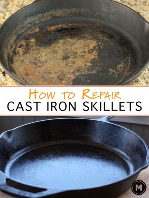 cast iron skillet clean cleaning reseason pans pan rust care macheesmo basic skillets cookware rusty really homemade tips season commandments