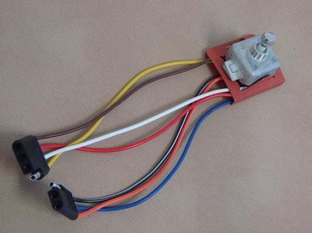 Power Seat Switch Chrome Wire For
