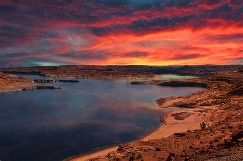 photo lake powell arizona sunrise  image