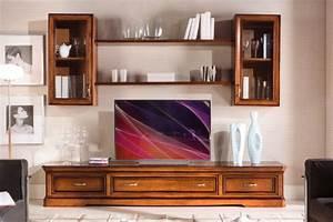 Meuble Mural Salon : meuble mural modulaire pour salon lamaisonplus ~ Teatrodelosmanantiales.com Idées de Décoration