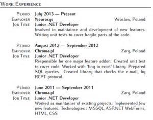 Work Experience Section Of A Resume by Git Diff Pawelsawicz Cv Pawel Sawicz Net