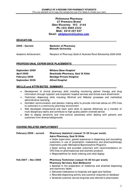 Pharmacy Intern Cover Letter Best Resume Exles Of Pharmacist Vacancy Vntask