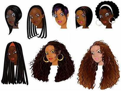 Hair African Faces Clipart Illustration Avatars Cornrows