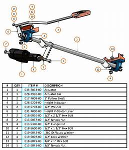 2007 Diesel Actuator Bar Parts And Schematic