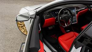 Tesla Model S P85D with custom Ferrari Red interior by T Sportline - YouTube