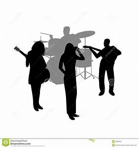 Rock Band Vector Silhouette Stock Images - Image: 9086204