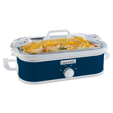 crock pot cooker crock pot 174 casserole crock slow cooker in midnight blue