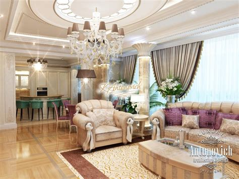 livingroom in luxury living room in a classic style